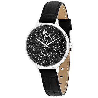 Roberto Bianci Femmes apos;s Gemma Black Dial Watch - RB0243