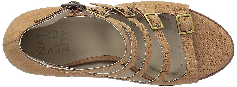 Naturalizer dame Imogene læder åben tå afslappet Strappy sandaler