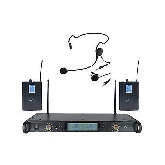W ακουστικό Dtm800 δίδυμο σύστημα ποικιλομορφίας Beltpack (ch70)