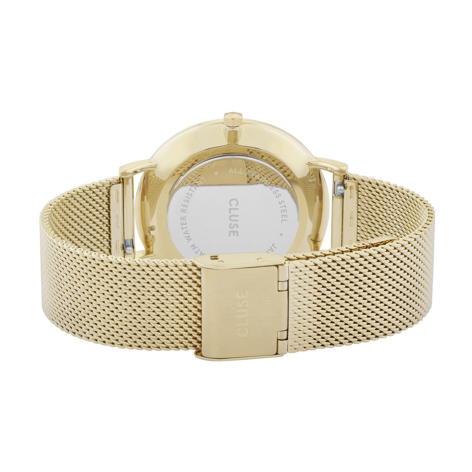CLUSE La Boheme Gold PVD Stainless Steel White Dial Ladies Watch CW0101201009