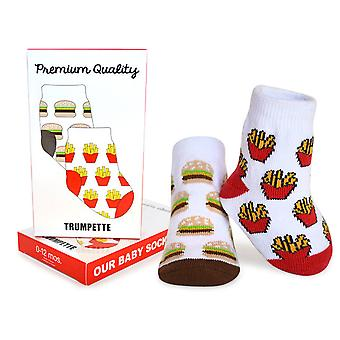 Socks - Trumpette - Premium Quality Burger/Fries Unisex 1-pair 0-12M