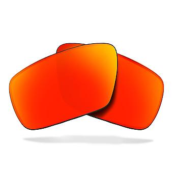 SEEK Replacement Lenses Compatible for OAKLEY STRAIGHTLINK Polarized Red Mirror
