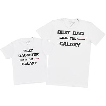 Best Daughter And Dad In The Galaxy - Mens T Shirt & Kid's T-Shirt