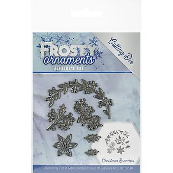 Find It Trading Jeanine's Art Die-Christmas Branches, Frosty Ornaments