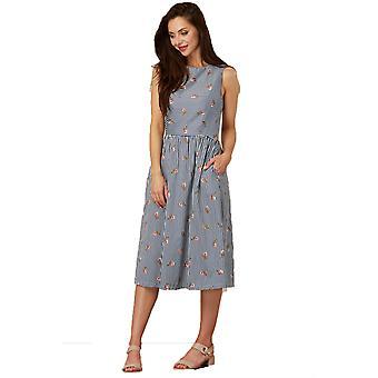 Sugarhill Boutique Women's Stripe and Heart Print Beatrice Sundress Dress