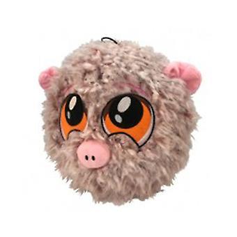 "Petlou 9"" PL Fuzzy Ball Pig Dog Toy"