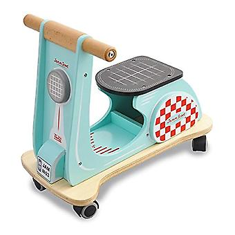 Jamm indaco in legno Jamm Scoot, giocattolo trattorini Scooter con Design retrò classico per i bambini di età compresa tra 12 mesi più Aqua Racer