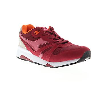 Diadora N9000 III  Mens Red Suede Lace Up Low Top Sneakers Shoes