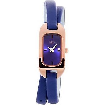 Opex OPW004 Watch - BLER Blue Leather Bracelet Bo tier Steel Dor pink Women