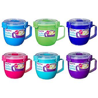 Sistema Soup Mug 565ml Set of 3 Assorted Colours