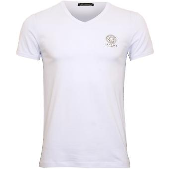 Versace Iconic V-Neck T-Shirt, Biały