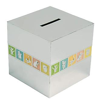 Classic Pooh Winnie The Pooh Silver Plated Cube Money Bank