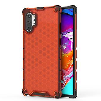 Para Samsung Galaxy Note 10+ Caso Vermelho Plástico Protetor Honeycomb Back