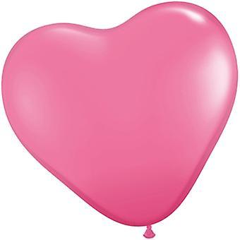 Balloons Heart - France 25-pack en forme de coeur - Rose
