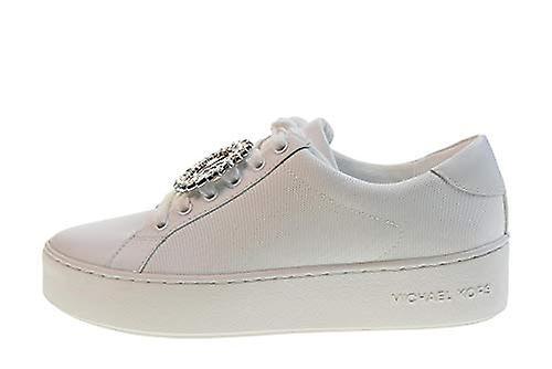 Michael Kors sko kvinne lav joggesko 43S9POFS1D Poppy LACE UP hvit størrelse 37.