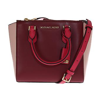 Michael Kors Red Carolyn Leather Tote Bag