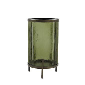 Light & Living Hurricane 21x35cm - Tibir Glass Olive Green And Antique Bronze