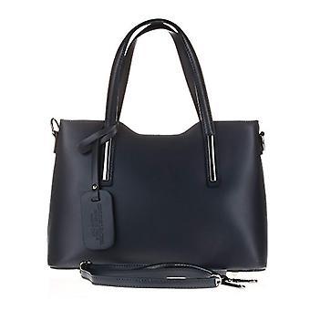 Florence Artegiani Bolso De Mujer Piel Authentic Acabado Ruga Lujo Messenger Bag 32 cm Blue (Marine Azul)