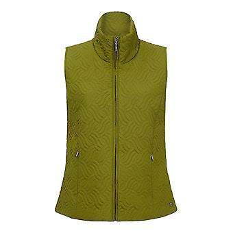 TIGI Wave Quilted Moss Gilet