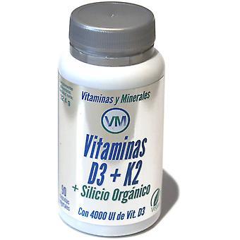 Ynsadiet VM Vitam. D3 + K2 + Silicio Orgánico 90C