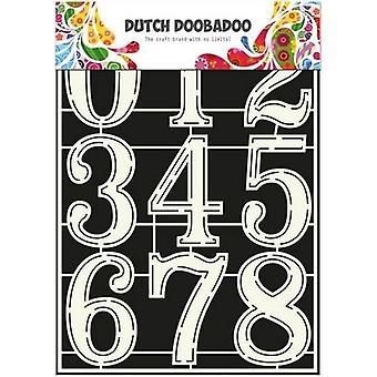 Niederländisch Doobadoo niederländische Schablone Art Schablone Zahlen 2 A4 470.715.805