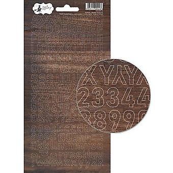 Piatek13 - Alphabet sticker sheet Soulmate 01 P13-MAT-17 10.5x23 cm