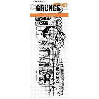 Studio Light Clearstamp 297x105mm Grunge Collection nr.338 STAMPSL338