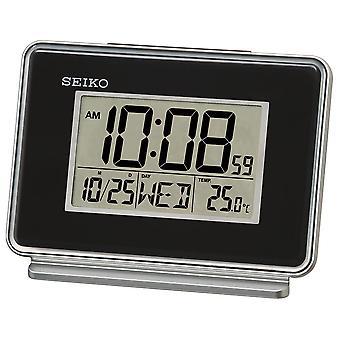 Seiko LCD Dual Alarm Calendar Clock - Black (QHL068K)