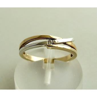 Christian bicolor gold ring with diamond