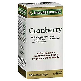Nature's bounty cranberry, 25200 mg, gelcapsules, 60 ea