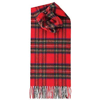Royal Speyside Royal Stewart Lambswool Tartan Scarf - Red/Blue