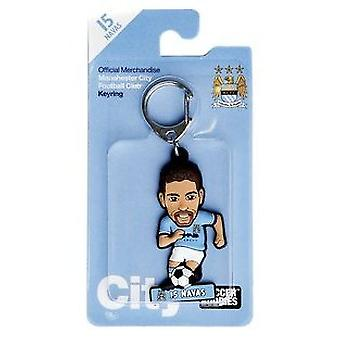 Manchester City Official Licensed Soccer Buddies Football Keyring - Jesús Navas