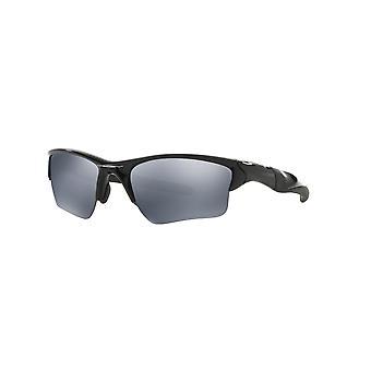 Oakley Half Jacket 2.0 XL OO9154 05 Occhiali da sole polarizzati Iridium Nero/Nero Lucido