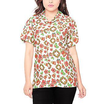 Club cubana women's regular fit classic short sleeve casualblouse shirt