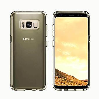 FONU Siliconen Backcase Hoesje Samsung Galaxy S8 - Zwart/Transparant