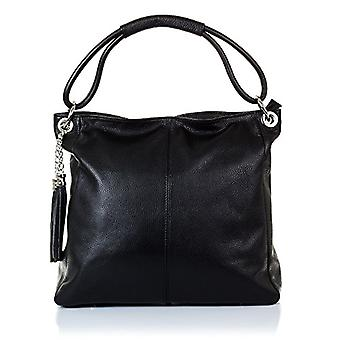 FIRENZE ARTEGIANI. Bag shopping bag real leather woman. Authentic leather bag Dollar soft feel. MADE IN ITALY. REAL ITALIAN SKIN. 38 x 33 x 15 cm. Color: Black