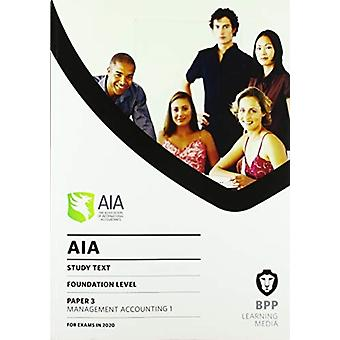 AIA 3 Management Accounting 1