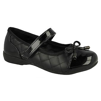 Cool For School Childrens Girls Quilted Vamp School Shoes