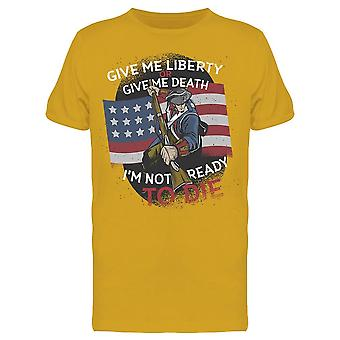 Liberty Or Death Quote American  Men's T-shirt