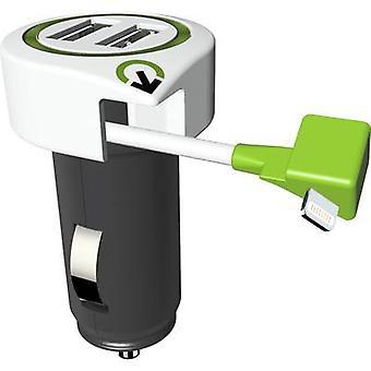 Q2 Power 3.100120 3.100120 USB charger Car, HGV Max. output current 3100 mA 3 x USB, Apple Dock lightning plug