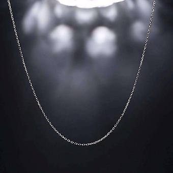 Fine belcher oval link silver chain necklace in 18, 20 or 22 inches