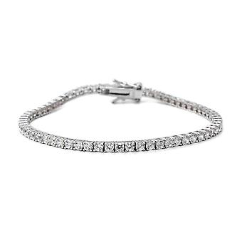"Tennis Cubic Zirconia CZ Bracelet Silver Size 7.25"", 6.93 Ct Christmas Gift"
