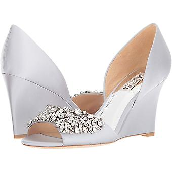 Badgley Mischka Femmes Satin Embellished Wedge Heels Badgley Mischka Femmes