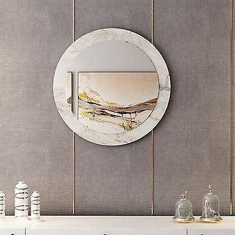 Spiegel Lady White Color, Chrom in Melaminic Chip, Spiegel, L60xP2xA60 cm