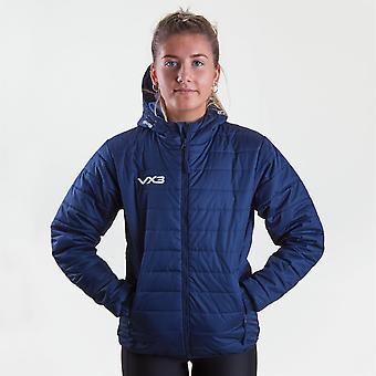 VX-3 Womens Pro Track Top Long Sleeve Jacket Jacket Jacket Capuchen aan de voorkant