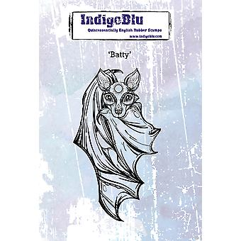 "IndigoBlu Cling Mounted Stamp 4.75""X7""-Batty"