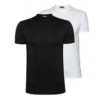 DSQUARED2 Underwear Black & White Twin Pack T-Shirt Set