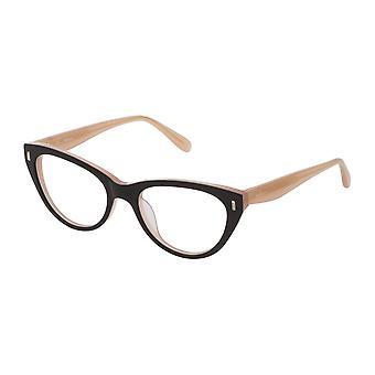 Mulberry VML052 0U75 Sahiny Black-Top Peach Glasses