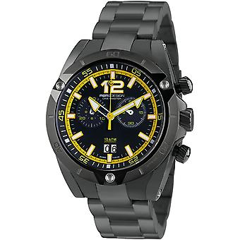 MOMO Design Dive Master Watch MD282BK-30 - Plated Stainless Steel Gents Quartz Chronograph
