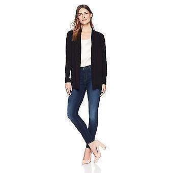 Lark & Ro Frauen's leichte Langarm mittlere Länge Strickjacke Pullover, schwarz,...